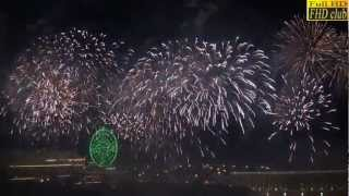 2013全台第義大 義大世界跨年煙火秀 ~ Taiwan New Year fireworks~全景完整高清HD版
