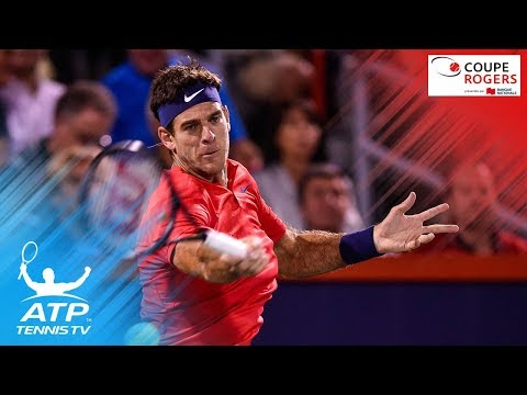 Del Potro crushing forehands to beat Isner | Coupe Rogers Montreal 2017 Day 1