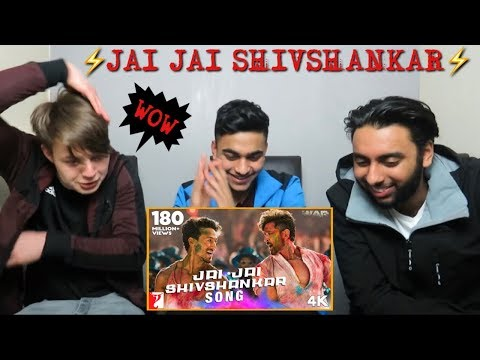 Jai Jai Shivshankar Full Song British Reaction  War  Hrithik Roshan, Tiger Shroff