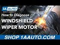 How To Diagnose Non Functioning Windshield Wiper Motor mp3