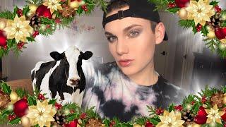 EIGHT MAIDS-A-MILKING MAKEUP TUTORIAL (12 Days of Christmas Makeup Series)