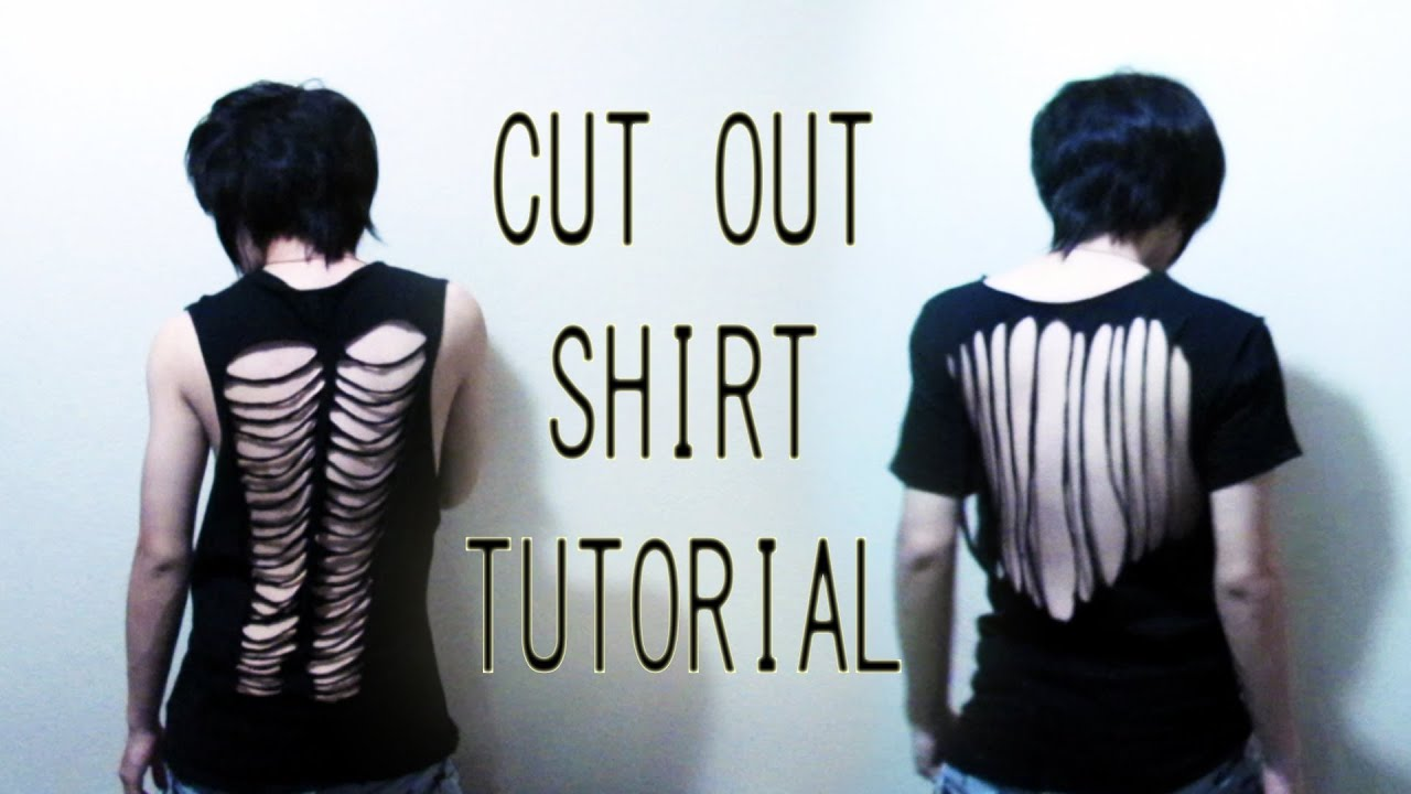 Diy Cut Out Shirt Tutorial Back To School Youtube