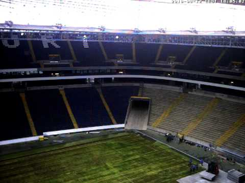 U2 Frankfurt stage build webcam 2