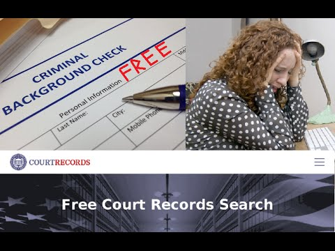 Where Online Can do FREE Criminal Background Record Check Search Someone (Felony Crime DUI Drug 2017
