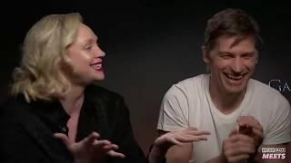 """We've annoyed everyone"" - Gwendoline Christie & Nikolaj Coster-Waldau Part 2"