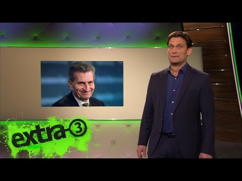 Christian Ehring: Günther Oettingers Welt | extra 3 | NDR