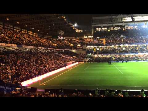 Chelsea vs Everton 2015 lights out entrance 'the Liquidator'