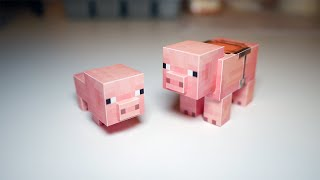 종이로 만든 마인크래프트 돼지