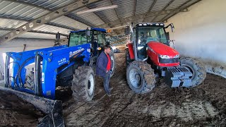 3 We Excavated and Carried Sheep's Manure in collaboration with Tractors! (VLOG # 14)