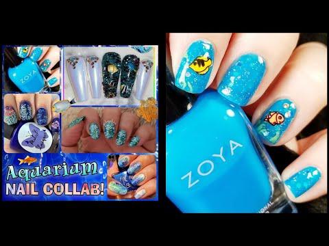 Aquarium Nail Art - Stamping Collab