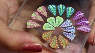 Creating A Bubble Leaf Cane with Polymer Clay