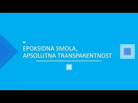 EPOKSIDNA SMOLA, APSOLUTNA TRANSPARENTNOST