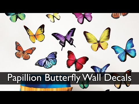Papillion Butterfly Wall Decals