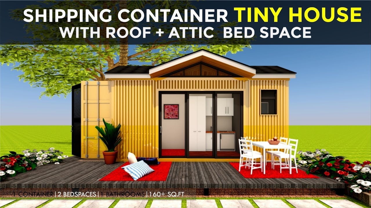 20 Shipping Container Tiny House Design With Built In