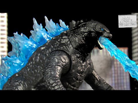 Playmates Godzilla Vs Kong (2021) Heat Ray Godzilla Battle Damaged Kaiju Figure Review - Spoilers!