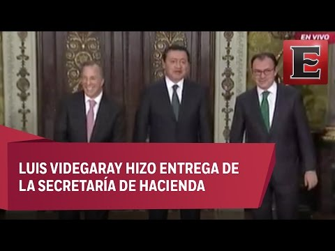Toma de posesión de José Antonio Meade en la Secretaría de Hacienda