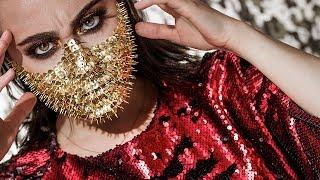 GOLDEN PINHEAD 👹Halloween Makeup Tutorial 🕷 Halloween Look deutsch 🔥 Hatiween 🔥 Hatice Schmidt
