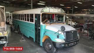 RV School Bus Conversion Front Cab Damage Repair