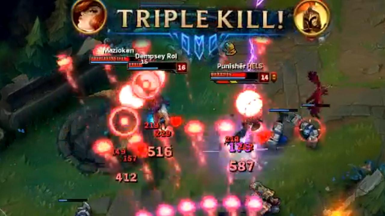 LITERAL ONE BUTTON TRIPLE KILLS - League of Legends