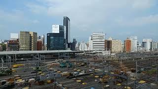 リニア中央新幹線の工事に備えるためのJR名古屋駅構内の在来線ホームの撤去作業工事 2019.8.24
