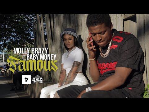 Смотреть клип Molly Brazy Ft. Baby Money - Famous