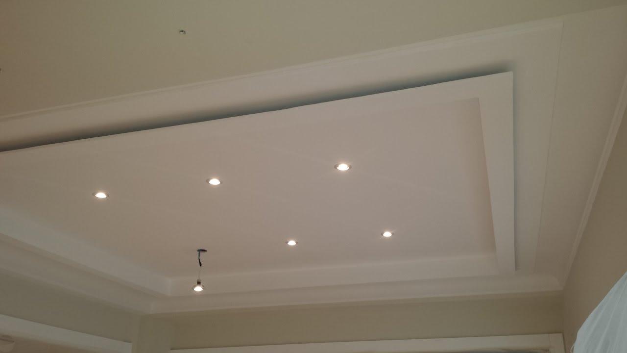 techo decorativo aislado en dos alturas