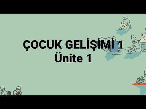 ÇOCUK GELİŞİMİ 1/ FİZİKSEL GELİŞİM /ATA AÖF/ ÜNİTE 1/ ÇOCUK GELİŞİMİ