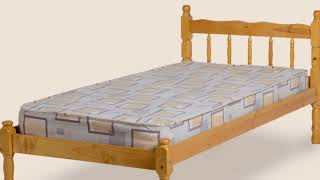 Single Pine Bed Frame in India Designs