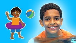 Swimming in the Pool | OCEAN DAY RHYMES | Mother Goose Club Playhouse Kids Video