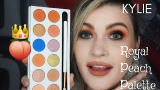 NEW Kylie Cosmetics Royal Peach Palette First Impression And Tutorial