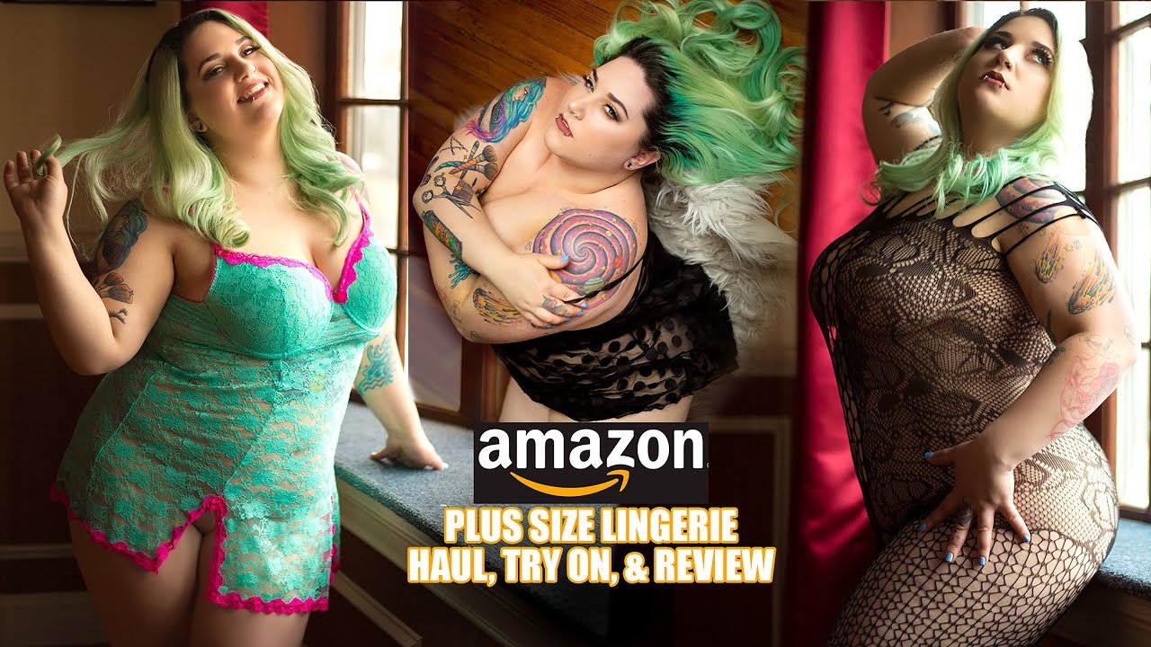 fa86462b6 Amazon Plus Sized Lingerie Haul Try on and Review - YouTube