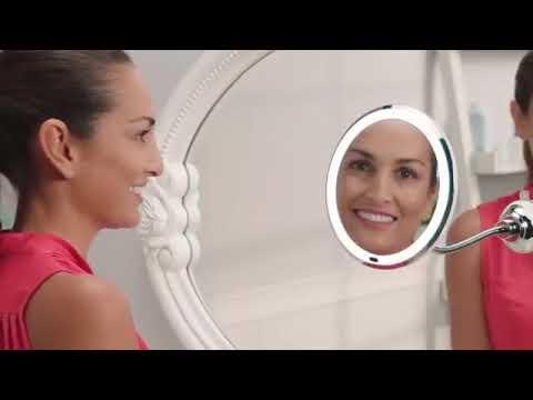 Led Lighted 10x Magnifying Makeup, Kedsum Flexible Gooseneck 6 8 10x Magnifying Led Lighted Makeup Mirror