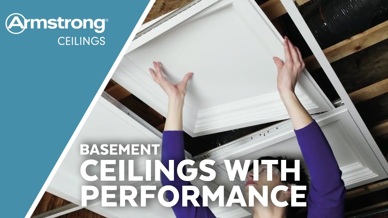 Used to install 24x 24 or 24x 48 drop ceiling panels designed for 1516 grid systems. Basement Ceilings With Performance Armstrong Ceilings For The Home Youtube