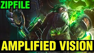 Amplified Vision Of Game! - Zipfile Pudge 7.15 Gameplay - Dota 2