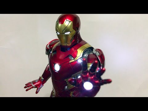 Hot Toys Mark XLVI Iron Man Power Pose 1:6 Scale Figure Unboxing + Review