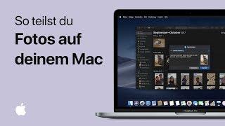 So teilst du Fotos auf deinem Mac
