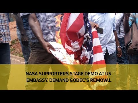 NASA supporters stage demo at US embassy, demand Godec's removal