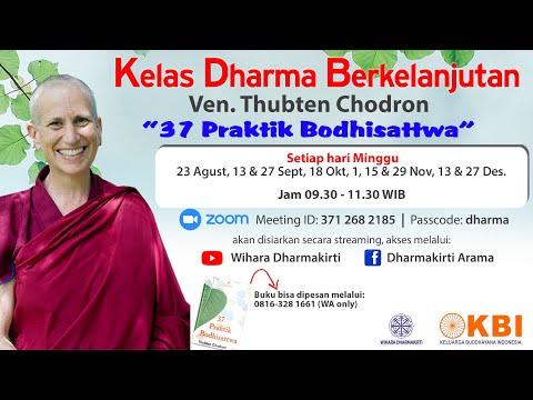 Kelas Dharma Berkelanjutan Ven Thubten Chodron 23 Agustus 2020