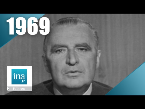 Georges Pompidou - Campagne présidentielle 1969   Archive INA