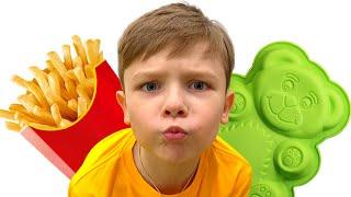Андрей и папа -  сладкие истории про вредные сладости