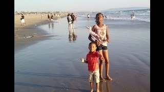 Mia Muggles & Amari ~ Venice Beach playing in the waves