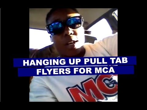hanging up mca pull tab flyers youtube
