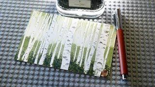 잉크로 그려 보는 자작나무 숲