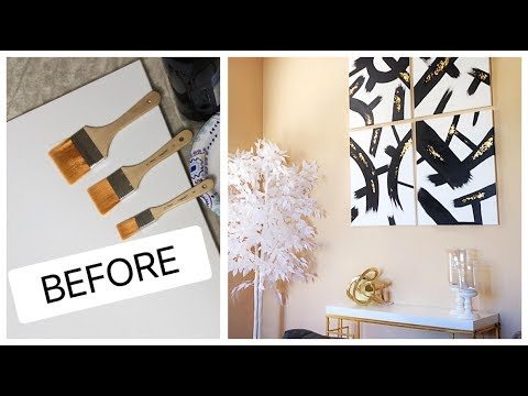 DIY Abstract Painting Decor