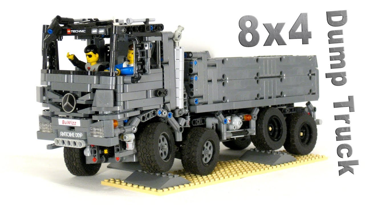 Lego Technic 8x4 Mercedes Actros Dump Truck Full Rc With Buwizz V2