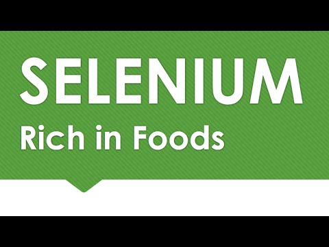 Selenium Rich in Foods - NATURAL MINERALS IN FOODS - BENEFIT