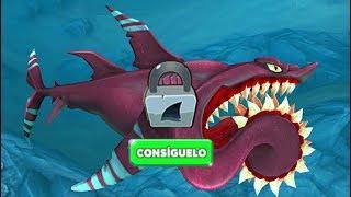 Hungry Shark World Nuevo Tiburón Tibusierra (Helicoprion)