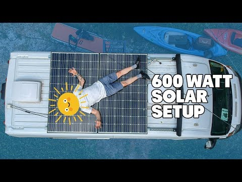 Sticking Big Ol' Solar Panels On The Roof Of A Van | Vanlife Solar Setup