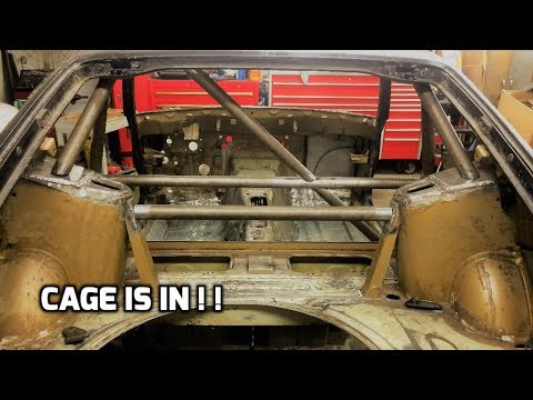 Roll Cage Installed Into The Datsun 280z