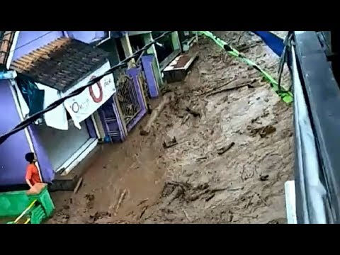 Flash flood in Java, Indonesia - June 22, 2018
